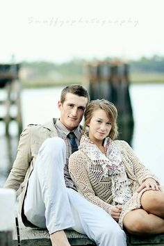 On the dock engagement pictures.