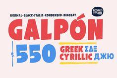 Galpón Family, Greek+Cyrillic 80% by Rodrigo Typo on Creative Market