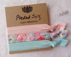 Set 3 gomas elásticas Hair ties Pulseras Yoga 193 de Gemasymas por DaWanda.com