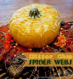 The Scrap Shoppe: Easy Elmer's Glitter Glue Spider Webs