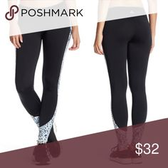 Prismsport Inset print leggings Prismsport inset print workout leggings. From Nordstrom. - Elasticized waist.  - On-seam pocket.  - Contrast printed inset.  - Banded trim.  - Moisture wicking fabric.  - Made in USA.  Printed fabric: 83% polyester, 17% spandex.  Solid fabric: 88% polyester, 12% spandex. Activewear. Prismsport Pants Leggings