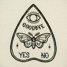 PDF pattern - Ouija Planchette with Moth - Butterfly detail Hand Embroidery Pattern (PDF pattern - modern embroidery pattern) Ouija Tattoo, Card Tattoo, Flash Art Tattoos, Modern Embroidery, Embroidery Patterns, Hand Embroidery, Embroidery Stitches, Beginner Embroidery, Embroidery Tattoo
