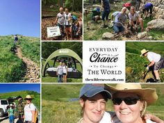"""What an awesome way to have spent a Saturday morning, GIVING BACK with some of my tribe mates for National Trails Day! """"I give best when I give from that deeper place; when I give simply, freely and generously, and sometimes for no particular reason. I give best when I give from my heart."""" ~ Steve Goodier #thewildernesswalk #payitforward www.thewildernesswalk.com National Trails Day, Giving Back, Saturday Morning, Wilderness, Journey, Baseball Cards, World, Heart, Awesome"""