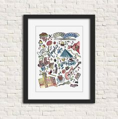 Memphis Print includes some local favorites, including: BBQ, BBQ nachos, the Pyramid, subtle FedEx ...