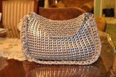 Handmade Upcycled Crochet Pop Soda Tab Purse. $110.00, via Etsy.