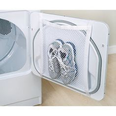 Drying shoes without them banging around your dryer....yes please! In this Crazy Life: Tips and Tricks