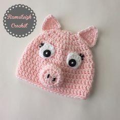 Pig Hat {Ramsileigh Crochet}