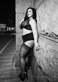 Plus size model Stephanie Mallick