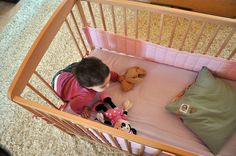 remove spindles from the crib to create a toddler bed