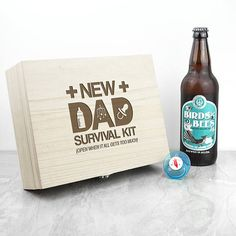 Personalised New Dad Survival Kit New Daddy First