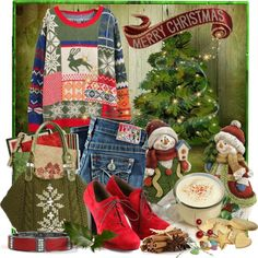 """""""Merry Christmas Ali"""" by doozer ❤ liked on Polyvore"""