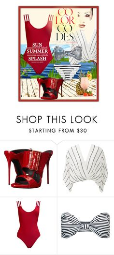"""Untitled #870"" by talatay ❤ liked on Polyvore featuring Giuseppe Zanotti, Free People, Mikoh and Calypso Private Label"
