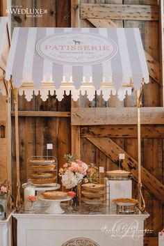 Caleb and Chelsie's Gorgeous Barn Wedding – Wedding Decor Toronto Rachel A. … Caleb and Chelsie's Gorgeous Barn Wedding – Wedding Decor Toronto Rachel A. Food Cart Design, Sweet Carts, Ice Cream Cart, Flower Cart, Candy Cart, Coffee Carts, Barn Wedding Decorations, Snacks Für Party, Night Snacks