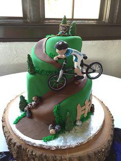 Mountain bike themed grooms cake