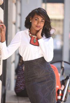 African Print Skirt by: Chen Burkett New York