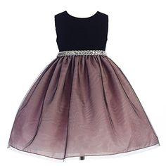 5526cb35b18 Crayon Kids Big Girls Dusty Rose Glitter Waist Junior Bridesmaid Dress 7-10  Junior Bridesmaid