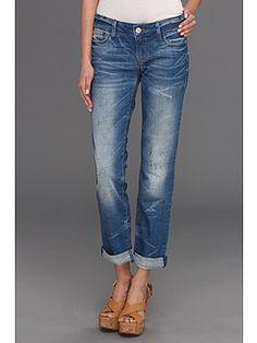 Mavi Jeans Emma Slim Boyfriend in Blue Rustic