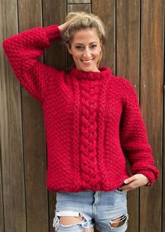 Janneckegenser Sweater Cardigan, Men Sweater, Cute Sweaters, Blouses For Women, Winter Outfits, Knitting Patterns, Turtle Neck, Pullover, Boutique