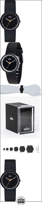Braun BN0021BKBKBKL - Reloj analógico de cuarzo para mujer con correa de piel, color negro  ✿ Relojes para mujer - (Gama media/alta) ✿