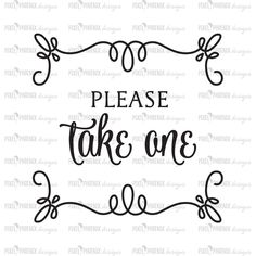 Please take one, wedding SVG, wedding sign, getting married svg, cricut explore, silhouette cameo, heat transfer file, vinyl word overlay by pixelphoenixdesigns on Etsy