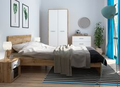 A simple modern bedroom range, great for calm & neutral space, quality at affordable prices. Oak Bedroom Furniture, Furniture Decor, Bedroom Decor, Wardrobe Drawers, White Oak, King Size, Home Decor, Neutral, Calm