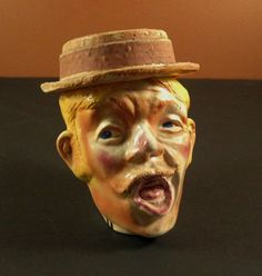 Antique Vintage Toby form Tobacco Jar Humidor // by Successionary