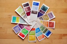 Make a color book of seasons.  Great idea to do the four seasons with little ones...have a different color for each month in each season.