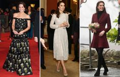 A selection of the most stylish fashion choices by Catherine, Duchess of Cambridge, over the years. Looks Kate Middleton, Cuthbert, Bridesmaid Dresses, Wedding Dresses, Duchess Of Cambridge, Style Icons, Princess, Stylish, Royals