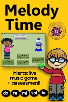Do Re Mi Sol La Melody Game! This interactive music game will be a hit with your elementary music classes. Great for utilizing technology in your class! Easy activity to add to Orff & Kodaly lesson plans.