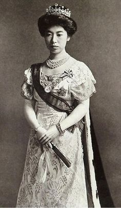 Japanese crown jewels. Empress Teimei of Japan