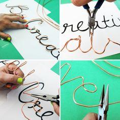 How to Create Wire Word Wall Art via Brit + Co. Baie nice idee!!!! I like!