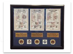 "Royals Authentics ""25 Days of Christmas Gift Ideas"" Day 15: If you wanna be a World Series Champion you've gotta win the big games. Get a Postseason clinching lineup card frame now at www.royals.com/authentics"