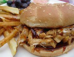 BBQ Chicken Sand. Recipe with left-over Chicken