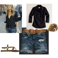 like the black with denim but the shirt will not be unbuttoned that low on me :)  Ha!
