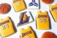 24th Birthday, Friend Birthday, 1st Birthday Parties, Birthday Gifts, Royal Icing Cookies, Cupcake Cookies, Sugar Cookies, Kobe Bryant Birthday, Basketball Cookies