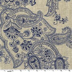 Swirly Girls Design FABRIC - Weekend Clubhouse - Pristine Paisley - Navy