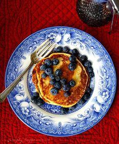 Gluten Free Banana Pancakes made with 0% Plain Chobani Greek Yogurt.
