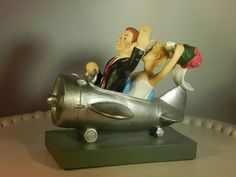 Airplane Pilot Aviation plane wedding cake topper by ColoradoCarla, $69.00
