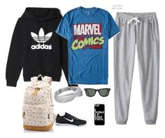 """""""Ughhhh......MONDAY!!!"""" by molly-92 ❤ liked on Polyvore featuring adidas, Aéropostale, NIKE and Ray-Ban"""