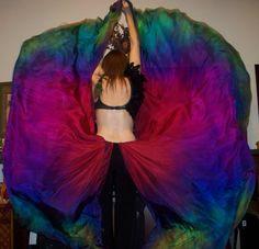 Sahariah's Silk Belly Dance Veils Killer Moths by SilksbySahariah, $100.00