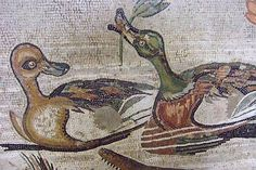 Ducks Detail from Mosaic depicting a Nilotic scene from the House of the Faun in Pompeii Roman 2nd century BCE - 79 CE | by mharrsch