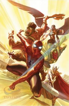 Exclusive-No-More: Alex Ross's Cover For Avengers #4
