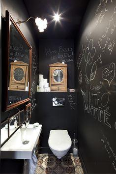 black chalk bathroom