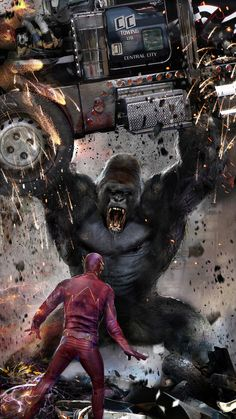 'Gorilla Grodd' Sits On His Throne In Awesome Concept Art For THE FLASH