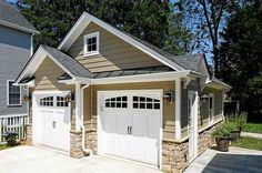 garage door with rounded windows and handles made to look like carriage doors Case Design/Remodeling, Inc. - traditional - garage and shed - dc metro - Case Design/Remodeling, Inc. Design Remodel, House Exterior, Architectural Inspiration, House, Shed Design, Garage Doors, Shutters Exterior, Garage Exterior, Exterior House Colors