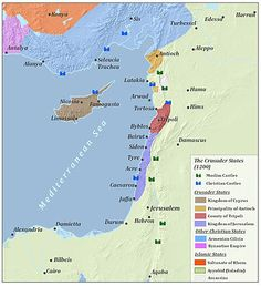Third Crusade - The Levant after the Third Crusade in 1200..