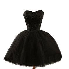Formal lace little black dress, short homecoming prom dresses, CM0024