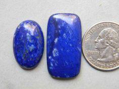 2 Pieces Lot Arresting Lapis Lazuli Loose Gemstone by KGNSHOP