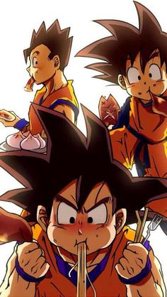 Goku, Gohan, and Goten - Visit now for 3D Dragon Ball Z compression shirts now on sale! #dragonball #dbz #dragonballsuper