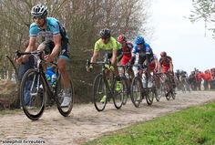 Paris-Roubaix (2012) Photos - Belgium's Tom Boonen (L) leads Italy's Felippe Pozzato over a cobblestoned section of the Paris-Roubaix cycling classic in northern France, April 8, 2012. REUTERS/Pascal Rossignol